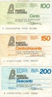 72 N° 3 MINIASSEGNI BANCO LARIANO - [10] Checks And Mini-checks
