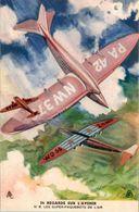Cp Publicitaire BYRRH Apéritif Alcool Les Super-Paquebots De L'Air Aviation N°8 En Superbe.Etat - Werbepostkarten