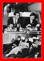 """CPSM/gf  AVIATION.  Air France, Service """"Etoile Des Isles"""" Le Repas, Fauteuils-couchettes....S1596 - 1946-....: Era Moderna"""