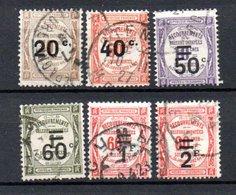 France Taxe N° 49 à 54 Oblitéré Sans Défaut. A Saisir !!! - 1859-1955 Oblitérés