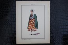 DH / For-18x23,5 Cm. Costumes Régionaux Par P. L. De GIAFFERRI -  [23] Creuse  Guéret, Jeune Villageoise Près De Guéret - Costumes
