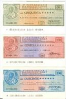 79 N° 3 MINIASSEGNI ISTITUTO BANCARIO SAN PAOLO TORINO - [10] Checks And Mini-checks