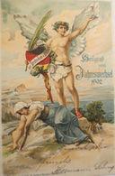 """""""Neujahr, Engel, Neues Uns Altes  Jahr"""" 1902, Sig. Hans Kaufmann ♥   - Neujahr"""