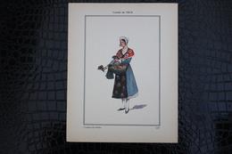 DH / For-18x23,5 Cm. Costumes Régionaux Par P. L. De GIAFFERRI -  [06] Alpes Maritimes  Nice , Vendeuse De Violettes - Costumes