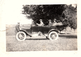 Real Photo Véritable - Old Antique Car - Voiture Ancienne - Early American Automobile - Size 3 1/2 X 2 1/2 - Animation - Automobiles