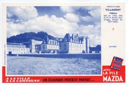 - BUVARD PILE MAZDA - INDRE-ET-LOIRE - Château De VILLANDRY - - Batterijen