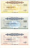 97 - N. 3 MINIASSEGNI CREDITO ARTIGIANO - Monete & Banconote
