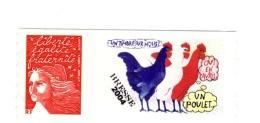 Luquet TVP Rouge RF Personnalisé Adhésif Grande Vignette YT 3729A . Voir Le Scan . Cote YT : 10 € , Maury N° 7 : 9 € . - Sellos Personalizados