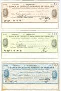 98 - N. 3 MINIASSEGNI BANCA DI CREDITO AGRARIO DI FERRARA - Monnaies & Billets