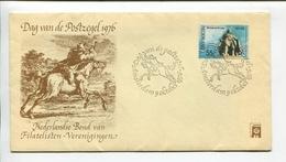 NEDERLAND - DAG VAN DE POSFZEGEL, MICHIEL DE RUYTER. AÑO 1976, SOBRE DIA DE EMISION ENVELOPE FDC - LILHU - 1949-1980 (Juliana)