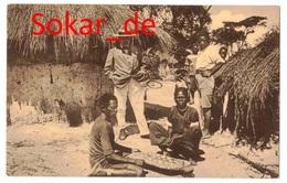 "AK Jeux Indigenes Le ""Lobese"", Lokele, Zentralafrikanisches Volk Belgisch-Kongo, Afrika, Spiel - Belgisch-Kongo - Sonstige"
