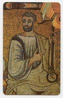 Roma  - Santino Plastificato BASILICA DI SAN CLEMENTE, Mosaico Absidale XII Sec - OTTIMO R12 - Religione & Esoterismo