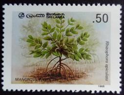 Sri Lanka 1986 Fleur Flower Mangrove Yvert 782 ** MNH - Sri Lanka (Ceylon) (1948-...)