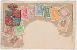 Francobolli E Stemma Della Romania - F.p. -  Anni '1900 - Francobolli (rappresentazioni)