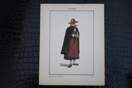 DH / For-18x23,5 Cm. Costumes Régionaux Par P. L. De GIAFFERRI - Flandre, [59] Nord - Paysanne Près De Roubaix - Costumes