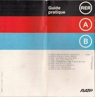 FRANCE - RER - GUIDE PRATIQUE -RATP (1977) - Europe