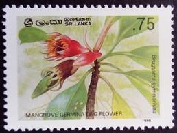 Sri Lanka 1986 Fleur Flower Mangrove Yvert 783 ** MNH - Sri Lanka (Ceylon) (1948-...)