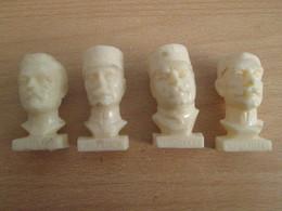 PUB719 Lot 4 Figurines Publicitaires 6's0 : GLOIRES DE LA 3e REPUBLIQUE Par TOTAL : LYAUTEY JOFFRE PETAIN EIFFEL - Figurillas