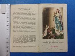 SANTINO HOLY CARD MADONNA DI LOURDES CENTENARIO APPARIZIONI 1858 1958 - Santini