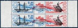 """TAAF 1989  Navire """"La Curieuse""""    N° YT PA 106A **  MNH  Le Triptyque En  Paire - Poste Aérienne"""
