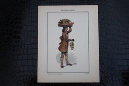 DH/for-18x23,5 Cm.Costumes Régionaux Par P. L. De GIAFFERRI-Franche-Comté, [25] Doubs - Vendeurs De Gibier Ou Volailleux - Costumes