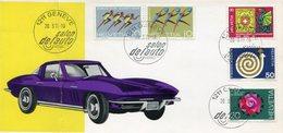 HELVETIA - SALON DE L'AUTO, GENEVE. AÑO 1971, SOBRE DIA DE EMISION ENVELOPE FDC - LILHU - Suiza
