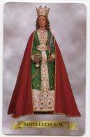 Martina Franca TA - Santino Plastificato SANTA LUCIA V. M. Parrocchia San Domenico - OTTIMO R12 - Religione & Esoterismo