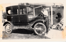 Real Photo Véritable - Old Antique Car - Voiture Ancienne - Early American Automobile - Size 4 1/2 X 2 1/2 - Animation - Automobiles