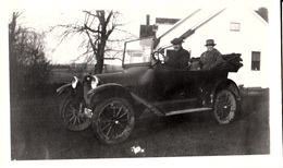 Real Photo Véritable - Old Antique Car - Voiture Ancienne - Early American Automobile - Size 4 1/2 X 2 1/2 - Animation - Automobili