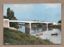 CPSM 33 - GUITRES - Le Nouveau Pont Sur L'Isle - TB PLAN Cours D'eau + Péniches - Autres Communes