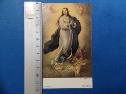 SANTINO HOLY CARD IMMACOLATA DI MURILLO EDIZIONE EGIM - Santini