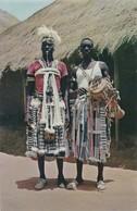 POSTCARD PORTUGAL - PORTUGUESE GUINEA - GUINÉ - TOCADOR E BAILARINO  MANDINGAS  - ( FARIM )  ETHNIC - Guinea Bissau
