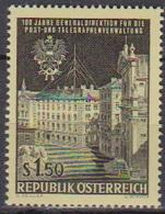 Österreich 1966 Nr.1202  ** Postfr. 100 Jahre Generaldirektion Für Post- U. Telegraphenver( 8729) Günstige Versandkosten - 1961-70 Ungebraucht