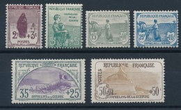 CZ-71: FRANCE:lot Avec  N°148*-149*-150NSG Pli Infime Au Verso-151NSG-152NSG-153NSG - Nuovi