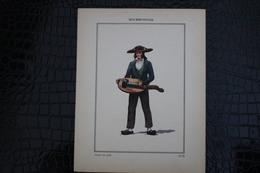 DH / For-18x23,5 Cm.Costumes Régionaux Par P. L. De GIAFFERRI - [03] Allier,  Bourbonnais Joueur De Vielle - Costumes