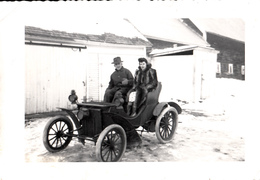 Real Photo Véritable - Old Antique Car 1910-1920 - Early American Automobile - Size 5 X 3 1/2 - Animation - Automobiles