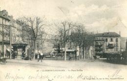 N°74235 -cpa Clermont Ferrand -la Place Delille- - Clermont Ferrand