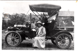 Real Photo Véritable - Old Antique Car 1910-1920 - Early American Automobile - Size 5 X 3 1/2 - Animation - Automobili