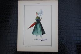 DH / For-18x23,5 Cm.Costumes Régionaux Par P. L. De GIAFFERRI -  [53] Mayenne - Anjou, Villagoise Angevine - Costumes