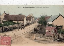 CHALON-SUR-SAONE GRANDE RUE SAINT-MARCEL (CARTE COLORISEE) - Chalon Sur Saone