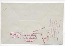 1944 - REBUTS - MERCURE 50c SEUL SUR LETTRE De TOULOUSE (HAUTE GARONNE) - INCONNU => MARQUE De REBUTS LOCALE AU DOS RARE - Marcophilie (Lettres)