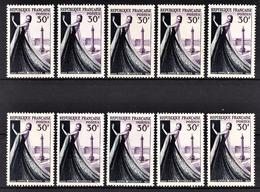 FRANCE 1953 - LOT 10 TP /  Y.T. N° 941 - NEUFS** - France