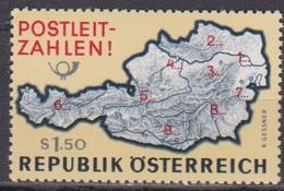 Österreich 1966 Nr.1201  ** Postfr. Einführung Der Postleitzahlen ( 8733) Günstige Versandkosten - 1961-70 Ungebraucht