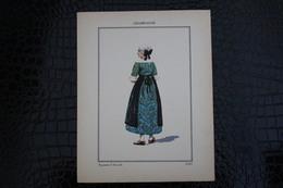 DH / For-18x23,5 Cm.Costumes Régionaux Par P. L. De GIAFFERRI - [51] Marne  - Champagne, Paysanne D'Argeville - Costumes