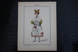DH / For-18x23,5 Cm.Costumes Régionaux Par P. L. De GIAFFERRI - [13] Bouches-du-Rhône - Provence Jeune Grisette D'Arles - Costumes