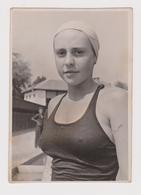 #55614 Vintage Orig Photo Pretty Lady Woman Sport Swimmer Close Face Portrait - Personas Anónimos