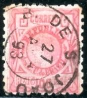 """BRAZIL # 080 -  1893  ALEGORIA DA LIBERDADE 100 RÉIS  - TYPE """"CABECINHA""""   -   USED - Used Stamps"""