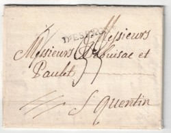 """1788, Folded Letter With Full Content From LISBOA With Transit """"D'` ESPAGNE"""" To France - Portugal"""