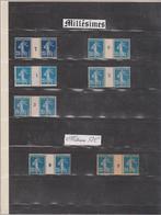 N°140  7 Paires Millésimées Xx 2 GC Et Un Bleu-noir - 1906-38 Sower - Cameo