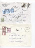 3220/ 10 Lettres/omslagbrieven Van Brugge & > Brugge Taxées Bon Lot Différentes Taxations Retour-Rebut-huis Refusées - Postage Due